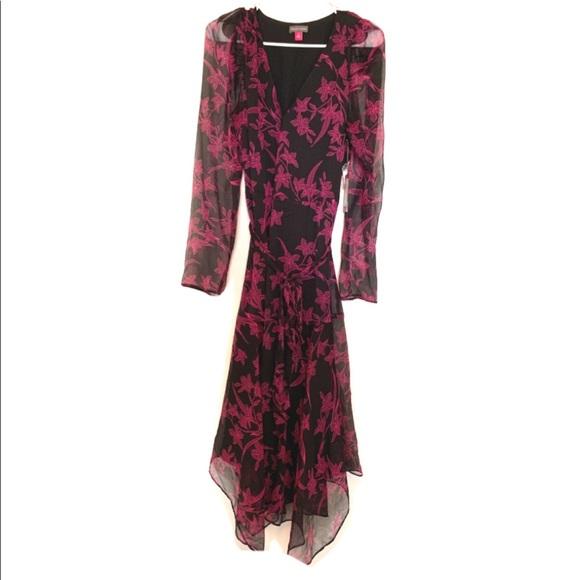 Vince Camuto Dresses & Skirts - Vince camuto sheer floral pink black dress